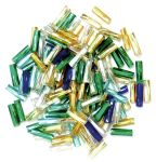 CF01\15 Twisted Bugle Beads: 7mm: 5 Packs of 15g - Full Colour Range